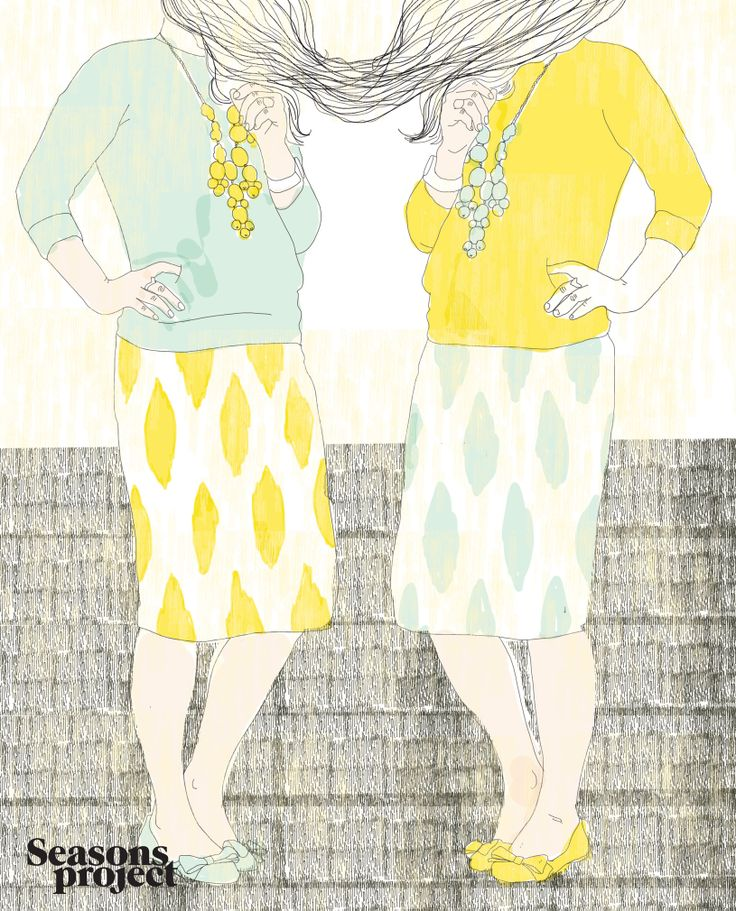 Seasons of life/ May-June issue 2013  Illustration Karina Kino #seasonsproject #seasons #illustration #art #drawing #girl #yellow