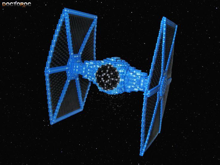 3-D Tie Fighter Bead Sprite by DrOctoroc.deviantart.com on @DeviantArt