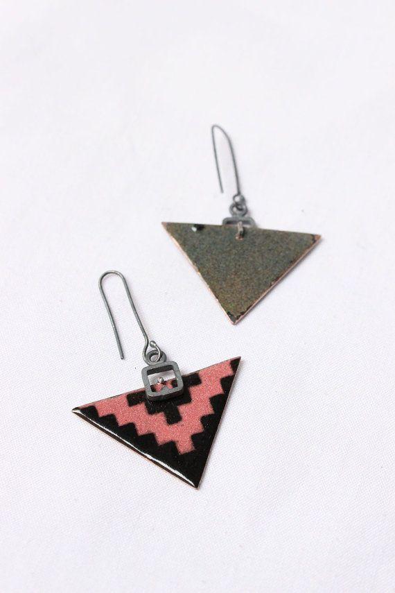 Pendientes de la punta de flecha esmaltado esmaltado cobre