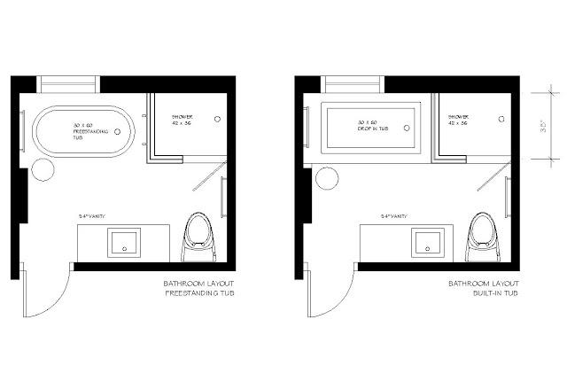 ensuite layout - free standing bath