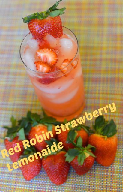 """Red Robin's """"Freckled Lemonade"""" Alcohol Free :) To """"spice it up"""" for a gathering, just add Absolut Citron Vodka."""