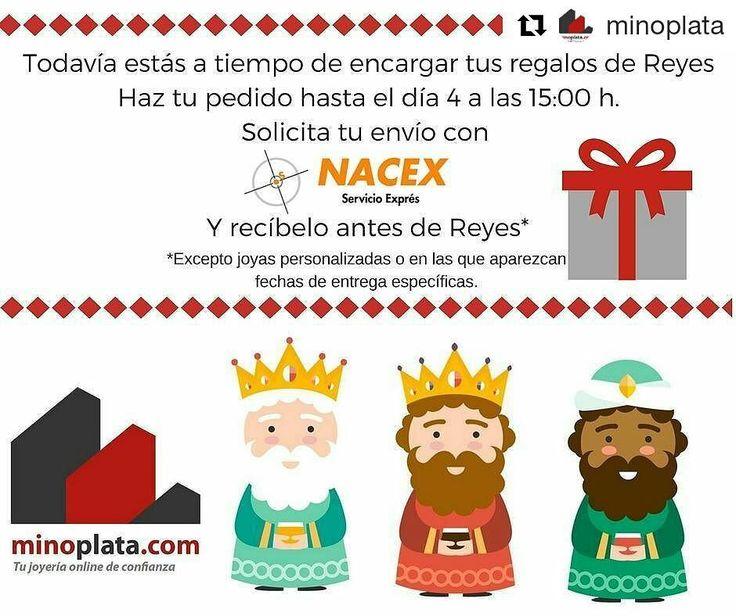 Sin tus regalos de Reyes?  Aún estás a tiempo de comprar tu regalo especial en Minoplata podrás hacerlo hasta el día:  4 de Enero a las 15h.  y lo tendrás para Reyes. Encuentra #joyas de #Plata originales y al mejor precio!!!  Entrega en 24 horas (Península) http://ift.tt/2gIfVB2  #minoplata #silverjewelry #jewelry #jewelrybrand #gargantilla #pulseras #elegant #perfectgift #christmasgift #fashionjewelry #accesorios #accesories #silver #silverjewelry #jewels #joyas #pendientes #anillo…