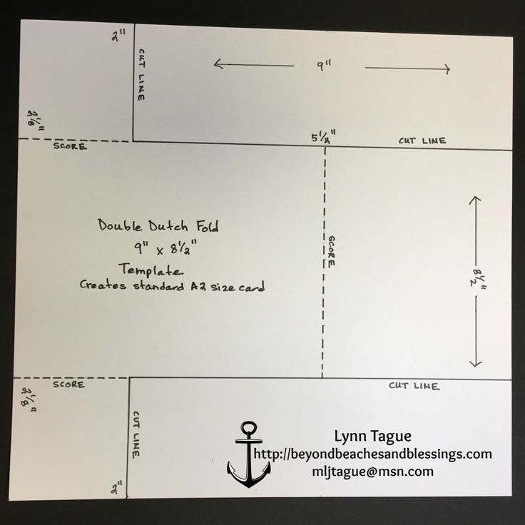 StampinUp Double Dutch Fold Card Template, designed by demo Lynn Tague. See more cards and gift ideas at BeyondBeachesandBlessings.com #BeyondBeachesandBlessings
