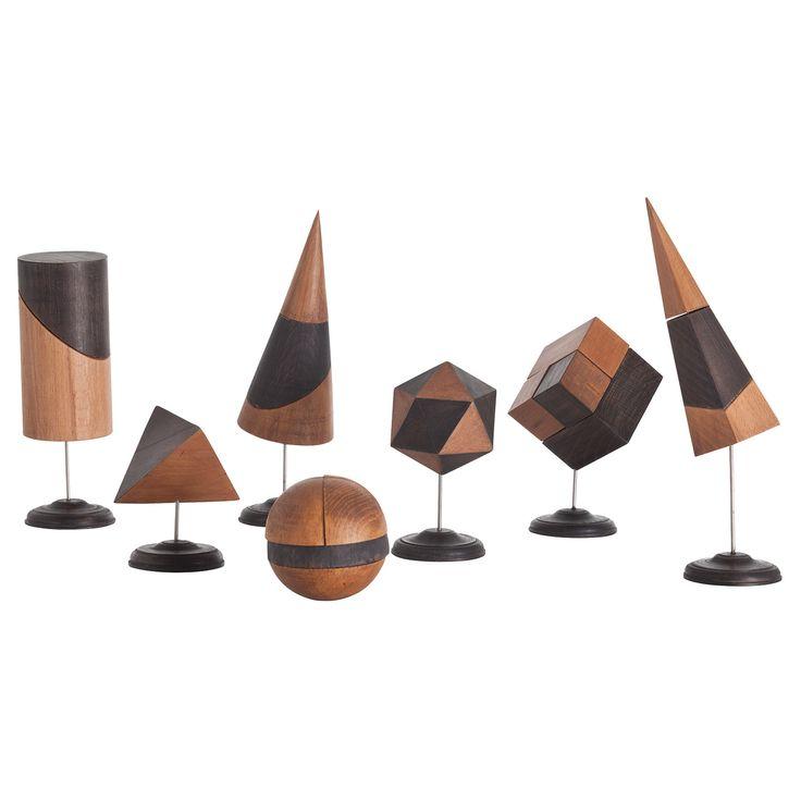 Arteriors Geo Wood/Iron Sculptures Set of 7 by Barry Dixon @Zinc_Door