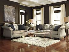 COVENTRY - Traditional Gray Fabric Sofa Couch Set Living Room New Furniture