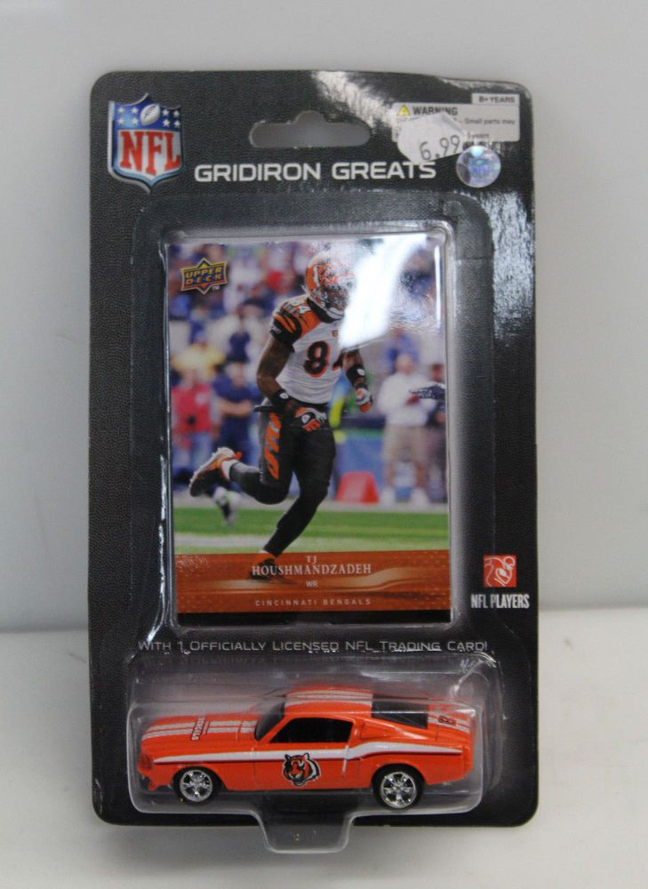 Upper Deck NFL Gridiron Greats TJ Houshmandzadeh Collectible Card w/ Diecast Car