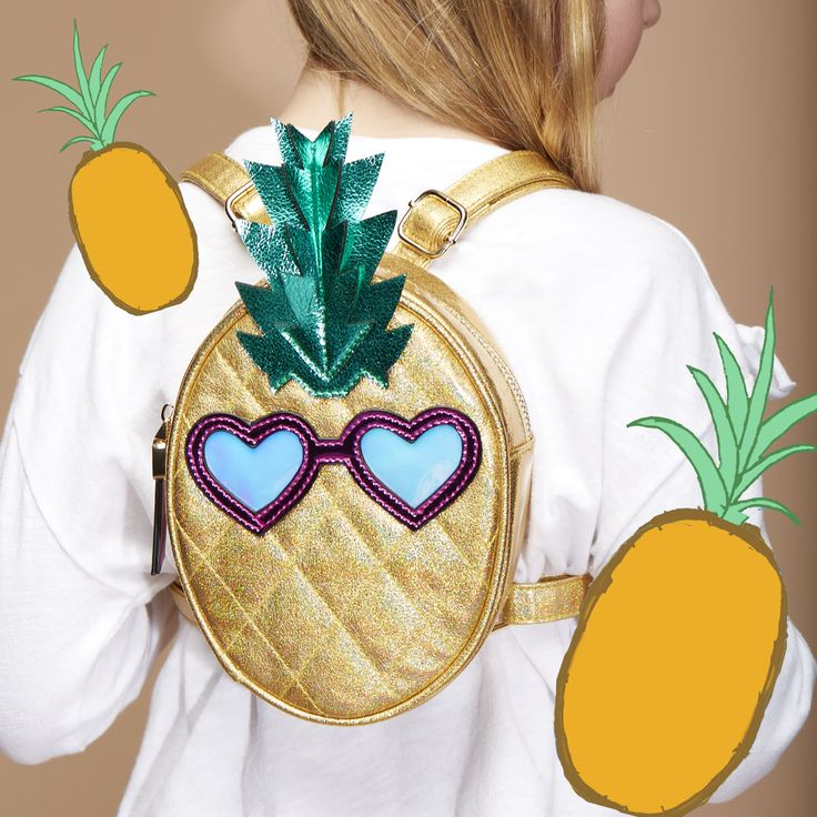 Fun and playful pineapple print backpack for Kids from Kurt Geiger - Mini Miss KG