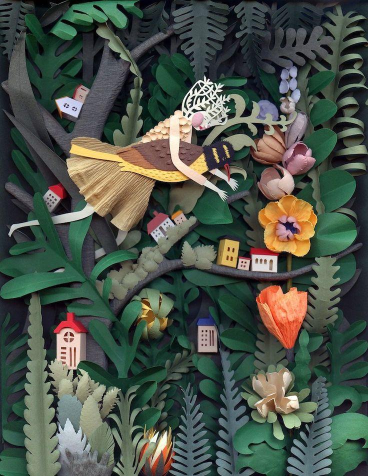 Потрясающие произведения искусства из бумаги Фантастические Бумажные иллюстрации Исполнитель: Elsa Mora