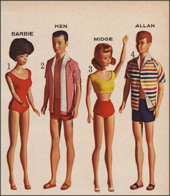 Barbie and The Gang! 1964 Sears