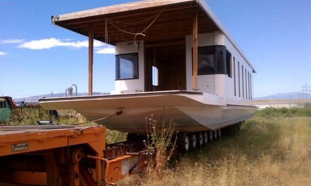 DIY Houseboat project in 2019   Boat building plans, Wood ...