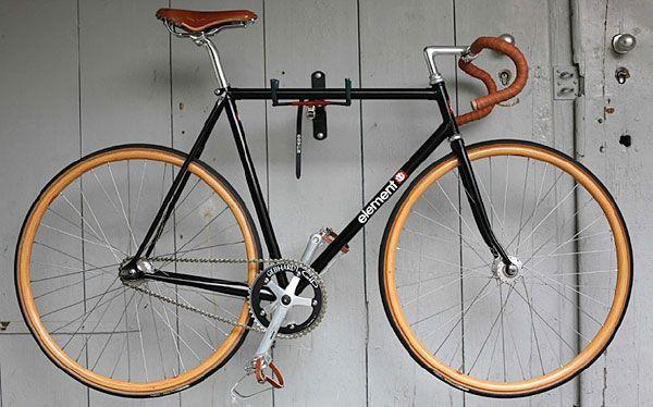 element x krabo single speed track bike with wood wheels. Black Bedroom Furniture Sets. Home Design Ideas