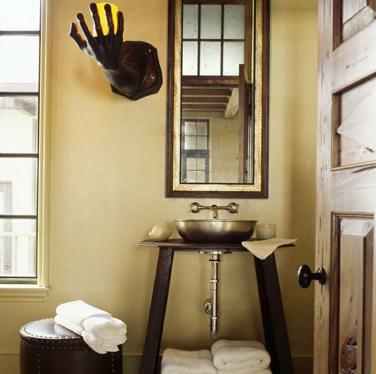 Half Bath Ideas With Unique Lights BATHROOMS Pinterest