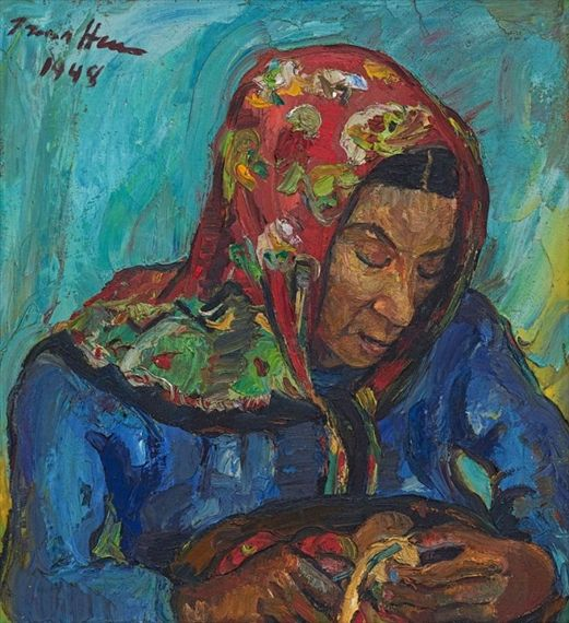 Artwork by Irma Stern, Meinkie, Made of oil on canvas