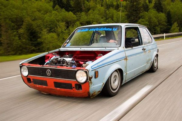 vw rabbit rat rod killbillet   sick vw pinterest