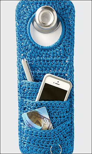 Don't Forget! Doorknob Organizer By Debra Arch - Purchased Crochet Pattern - (ravelry)