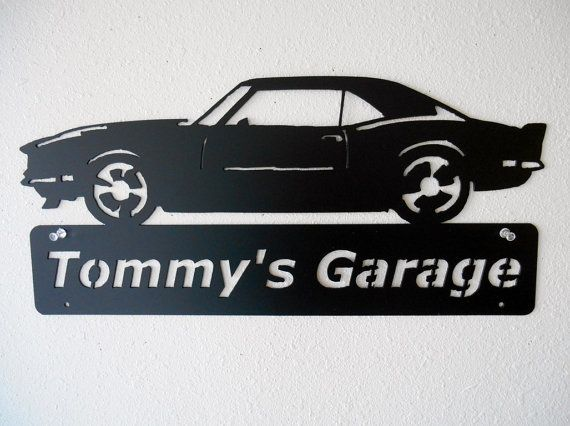 Personalized Metal Sign  1968 Chevrolet Camaro  by Just4theArtofit