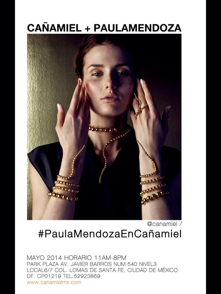 La joyería de la diseñadora colombiana Paula Mendoza en exclusiva para CAÑAMIEL en México | colección ORO 2014