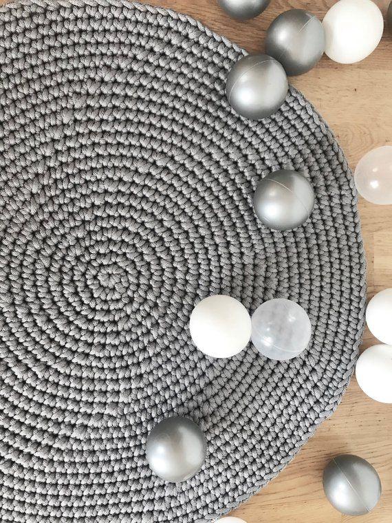 Grey Rug Nordic Rug Livingroom Carpet Crochet Round Rug Grey Bedroom Mat Nordic Living Room Rug Bedroom Mats Round Rugs Nordic Living Room