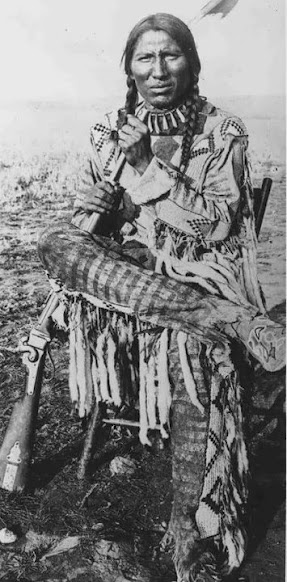 Bull Plume - Blackfoot (Northern Peigan) - circa 1880 - Photographer unknown.