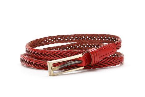1cm wide plait leather belt.