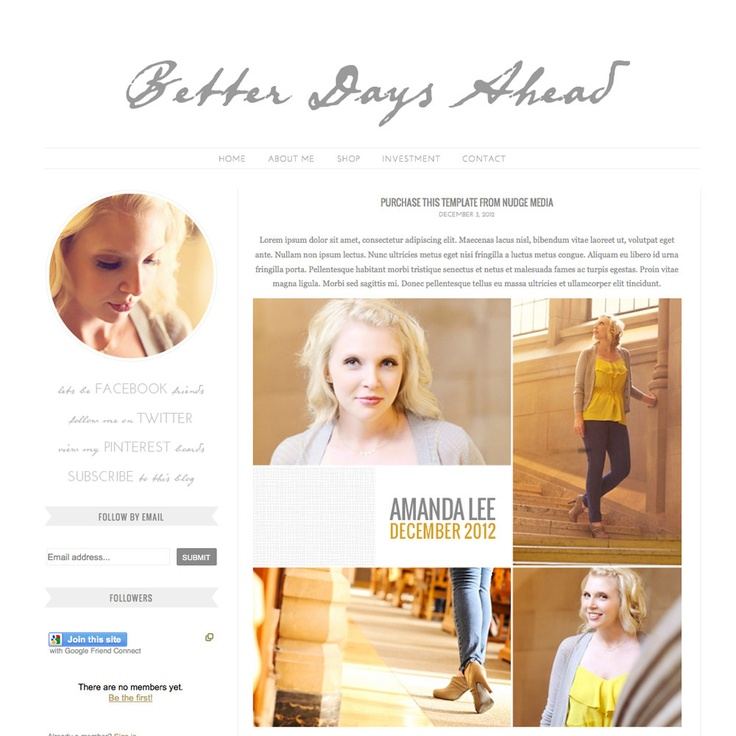 35 best images about blog layouts on pinterest studios for Premade columns