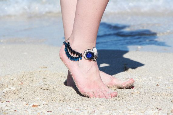 Anklet beach jewelry/ anklet cuff/ shell by RasaVilJewelry on Etsy