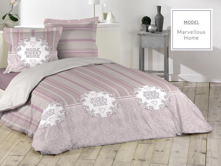 Růžové bavlněné povlečení na postel sweet home