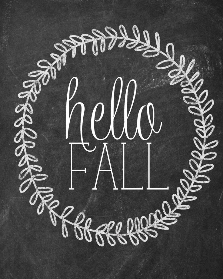 free fall printable chalkboard - 10 free fall printables
