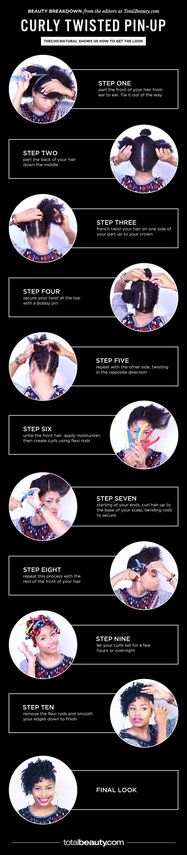 Try This: Curly Twisted Pin-Up...Get more of us>>>.HAIR NEWS NETWORK on Facebook... https://www.facebook.com/HairNewsNetwork