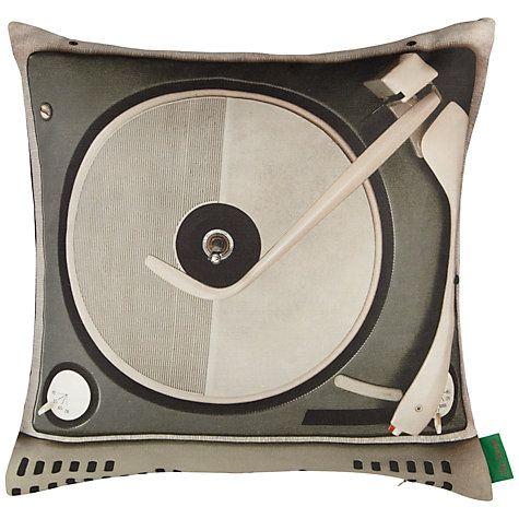 Buy Ella Doran Portables Record Player Cushion, Multi Online at johnlewis.com