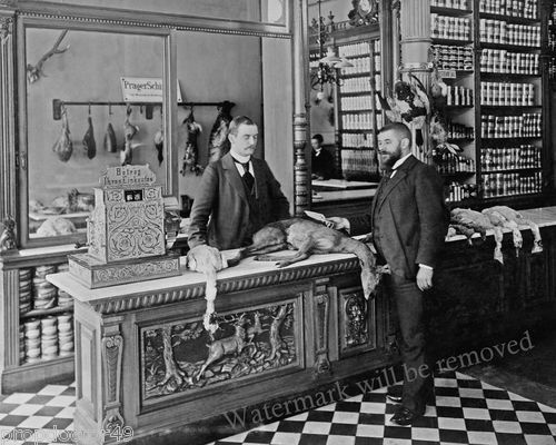 photograph vintage butcher shop berlin germany petznick game 1899 8x10 ebay arszman 39 s market. Black Bedroom Furniture Sets. Home Design Ideas