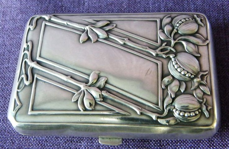 Jugendstil - Zigarettenetui - Silber um 1900