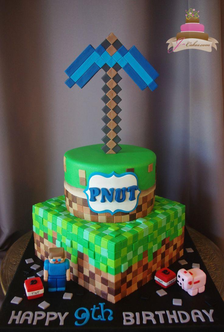 508 Tiered Minecraft Theme Cake Kids Cakes