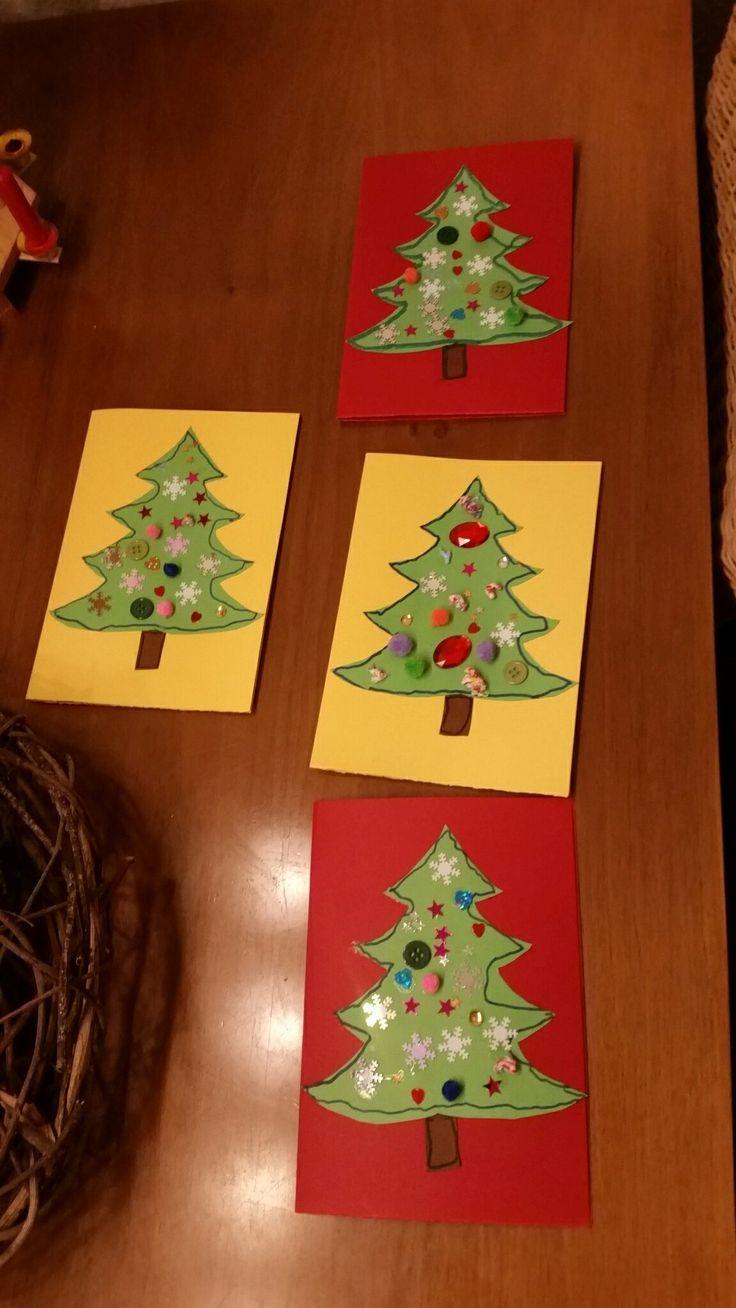 17 best ideas about weihnachtskarten basteln mit kindern for Weihnachtskarten mit kindern basteln