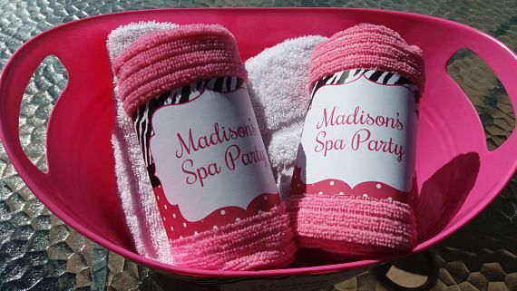 Spa Towel Wrap / Spa Party / Spa Printable / Spa Party Decor /