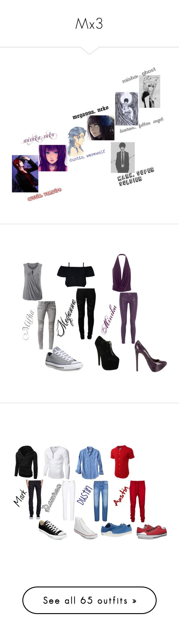 """""""Mx3"""" by lilnekomagdie20 ❤ liked on Polyvore featuring CAbi, Balmain, Karl Lagerfeld, Ruthie Davis, Vero Moda, Converse, Doublju, Banana Republic, LE3NO and Naked & Famous"""
