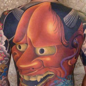 masque japonais, dos intégral