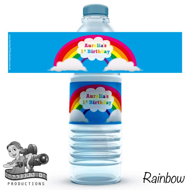 Rainbow Water Bottle Labels by fourteen92prod on Etsy https://www.etsy.com/au/listing/473592136/rainbow-water-bottle-labels