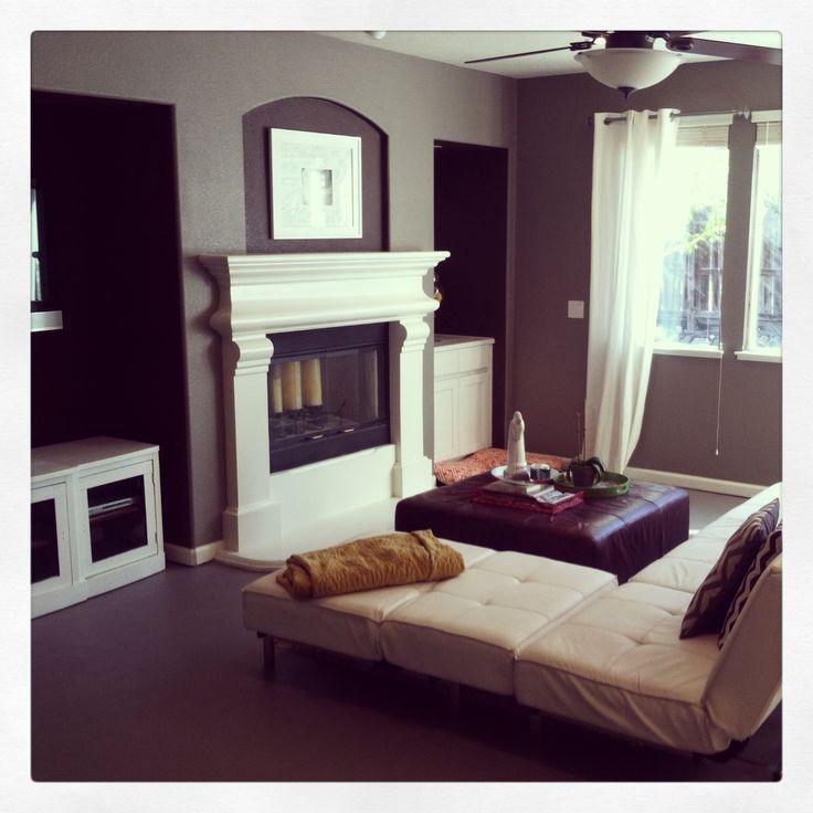 Painted Concrete Floors Valspar Driftwood Grey Interior Design My House In My Head