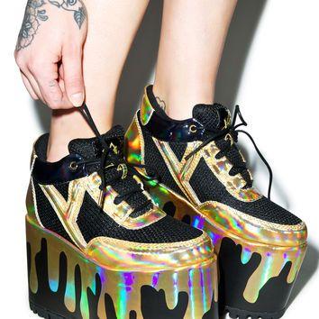 Y.R.U. Qozmo Lo Matrix Platform Sneakers from Dolls Kill   Shoes