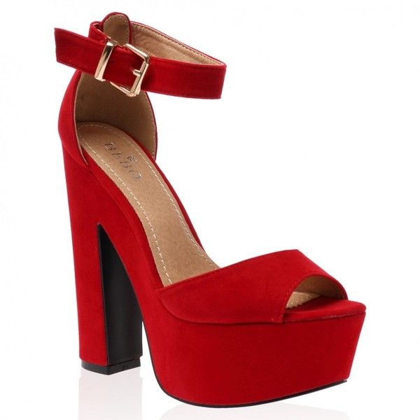 1000  ideas about Red Heeled Sandals on Pinterest | Black high ...