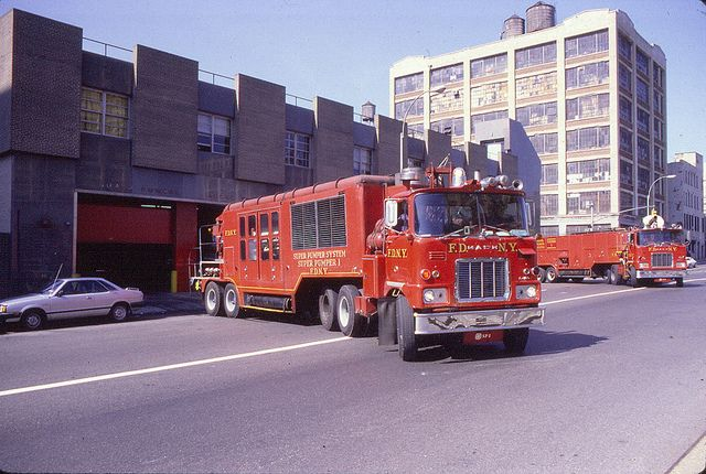 superpumper1.. The five truck unit had a special house built for them.