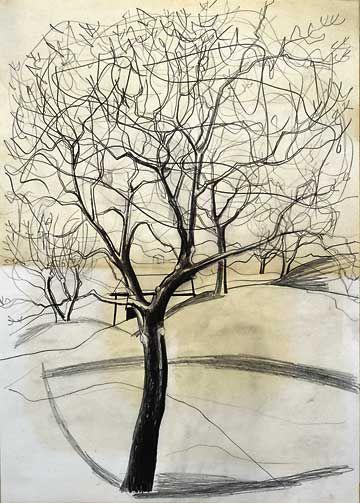 BEN NICHOLSON Tree at Sava #1 (1958)
