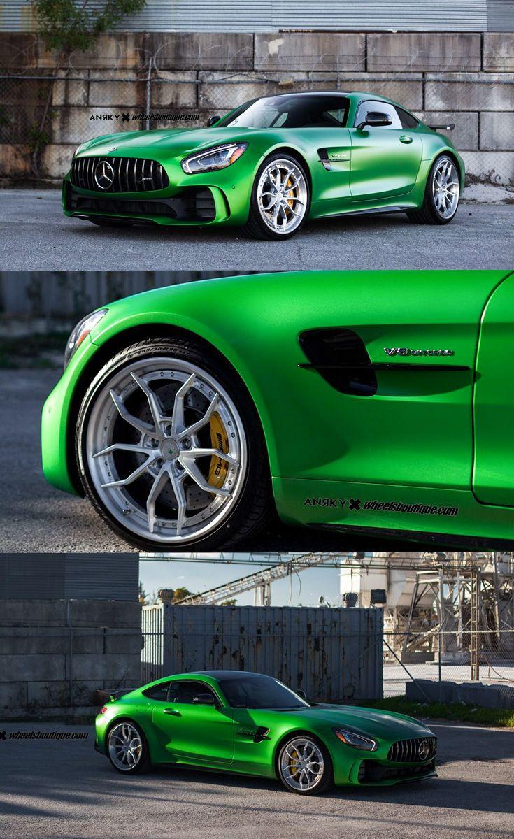Custom Amg Gt : custom, Emerald, Green, Mercedes, Wearing, Aftermarket, Headlights, Auto,, Custom, Wheels,