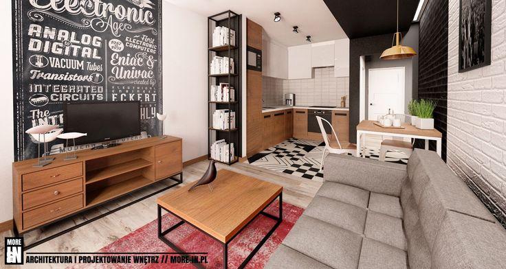 pokój dzienny - zdjęcie od More IN - Salon - Styl Industrialny - More IN