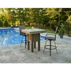 Westport Square Pub Height Gas Fire Pit Table - Fire Pits - Fire Pits