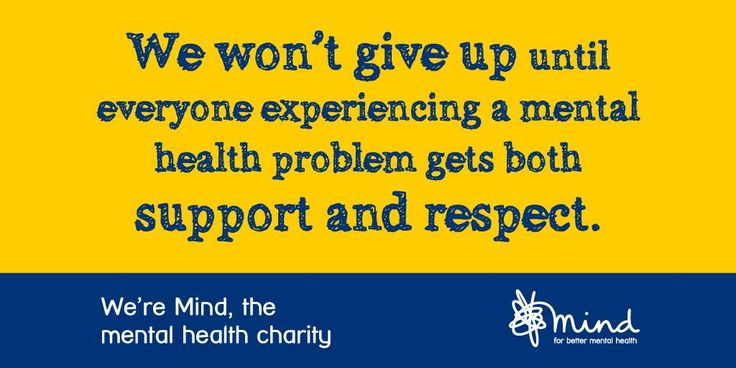Mind for better mental health, a UK charity