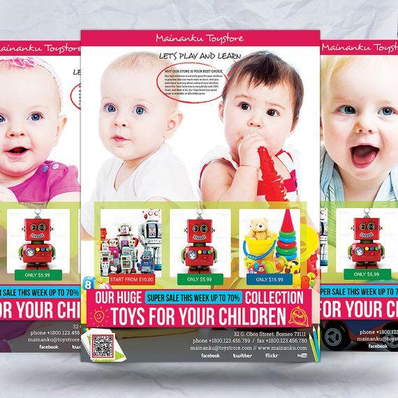 Toy Store Advertising Flyer by FionaCreatiiv on Etsy, $4.00