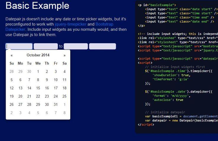 10 Best jQuery Date Pickers Plugins 2014