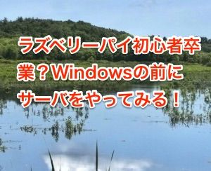 ラズベリーパイ初心者卒業Windowsの前にサーバをやってみる